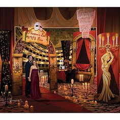 Our Think of Me Theme Kit will transform any party venue into a elegant Parisian opera house. Each Think of Me Theme Kit includes seven party props.