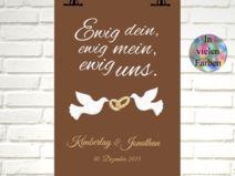 "Kunstdruck  ""EWIG UNS"""