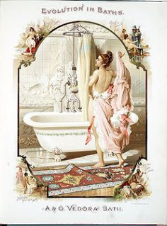 My mom would have loved this fancy bathroom-print for wall art Vintage Labels, Vintage Ephemera, Vintage Ads, Vintage Posters, Vintage Girls, Vintage Prints, Vintage Pictures, Vintage Images, Scrapbooking Vintage