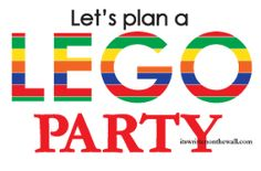 It's Written on the Wall: Lego Movie Party Ideas for Food, Games and Decorations-Gotta See!
