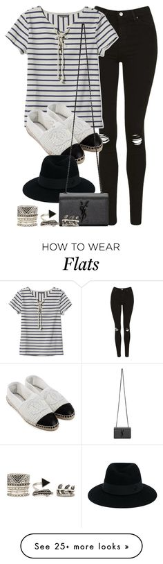 """""""Style #10849"""" by vany-alvarado on Polyvore featuring Topshop, L.L.Bean, CC, Maison Michel, Yves Saint Laurent and Forever 21"""
