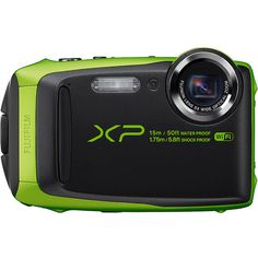 """Fujifilm Xp90 Waterproof Digital Camera With 3.0"""" Lcd ($230) ❤ liked on Polyvore featuring green"""