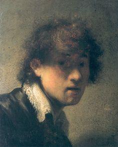 Self-Portrait at 1629 by Rembrandt van Rijn