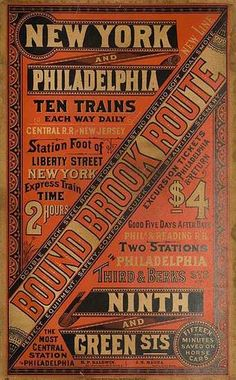 The Railroad Revival Tour Historical Revival / Vernacular Vintage Type, Vintage Signs, Vintage Prints, Vintage Posters, Typography Love, Vintage Typography, Typography Letters, Lettering, Train Posters