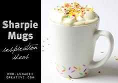 Tazas Decoradas con Sharpie: Idea Regalo Bonita y Barata! Sharpie, Christmas Gifts, Mugs, Ideas, Tableware, Tutorial, Crafts, Inspiration, Food