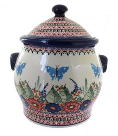 Floral Butterfly Cookie Jar