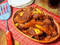 La Cocina de Leslie: Pollo Adobado con Papas #SundaySupper {Adobo Chicken & Potatoes}