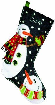 felt snowman stocking - Google Search