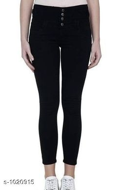 Jeans Stylish Denim Women's Jeans  *Fabric* Denim  *Waist Size* S- 28 in, M- 30 in, L- 32 in, XL- 34 in , XXL - 36 in  *Length* Up To 40 in  *Type* Stitched  *Description* It Has 1 Piece Of Women's Denim Jeans  *Work* Solid  *Sizes Available* 28, 30, 32, 34, 36 *    Catalog Name: Alyssa Stylish Denim Womens Jeans Vol 1 CatalogID_123166 C79-SC1032 Code: 504-1020915-