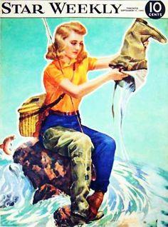 1940's Women Flyfishing