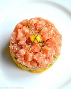 Tartare de saumon, avocat et mangue | Del's cooking twist