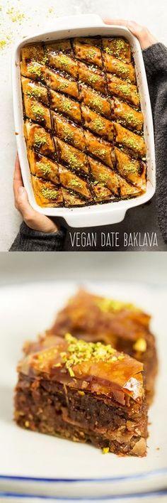 #vegan #dairyfree #baklava #refinedsugarfree #dates #date #vegetarian #treat #easy #phyllo #pastry
