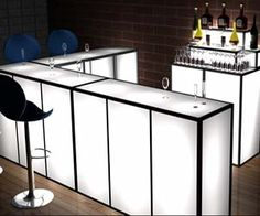 Set up a killer looking bar on the go with this portable light up bar. Known as the SkyBar, this lightweight and waterproof bar is customizable with a huge variety of accessories such as a DJ booth - making the light up bar great for both personal and commercial use. Buy It $1,375.00 via PortADecor.com