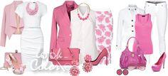 сочетание розового и белого цвета в одежде 2
