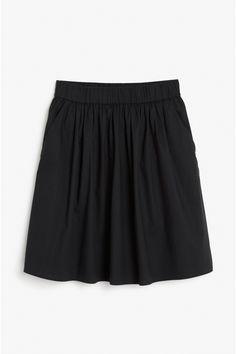 Monki Image 2 of Summer skirt in Black Summer Skirts, Monki, Gym Men, Skater Skirt, Denim, Clothes, Black, Image, Fashion
