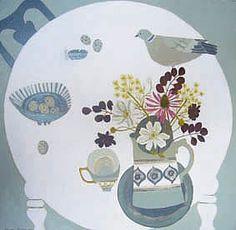 Vanessa Bowman: White table, Pigeon
