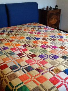 Quilt Stuff — Disappearing four patch by Peoniagialla on Flickr.