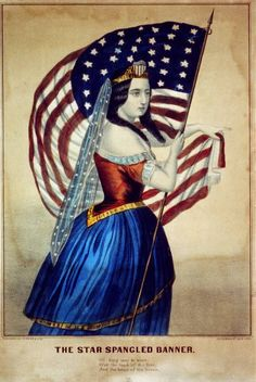 American Woman Holding American Flag Picture on Acrylic Wall Art Décor Framed Ready to Hang! Vintage Images, Vintage Posters, American Flag Pictures, Patriotic Images, I Love America, North America, Star Spangled Banner, Currier And Ives, Acrylic Wall Art