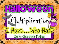 """Everybody loves a round of """"I Have ... Who Has?""""! This version is perfect for the month of October and can be used as multiplication fact and word problem practice or review during Morning Meeting, math time, or a Halloween party."""