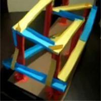 Parcours de bille en papier Activité manuelle et bricolage enfant