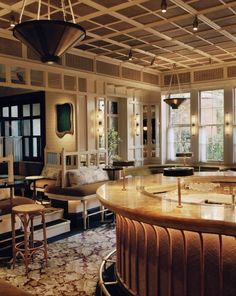 One of MLC most recent projects - Chiltern Firehouse, famous bar, hotel and restaurant in London. http://www.manhattanloft.co.uk/projects/chiltern-firehouse/
