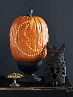 Pumpkin Decorating Ideas - You've gone to the farm and picked out the best of the bunch. Now, check out our favorite ideas for carving, decorating, and displaying your prized pumpkin this Halloween.