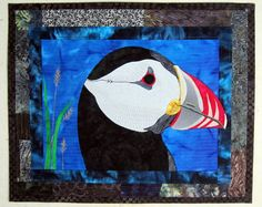 PUFFIN an art quilt by BSLArtQuilts on Etsy, $250.00