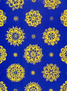 Pattern Mary Charest Blue And Yellow