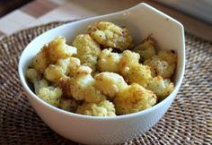 These cauliflower recipes are our favorites, from casseroles and soups, to main dish combinations and salads.: Roasted Cauliflower With Parmesan Cheese