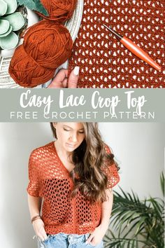Crochet Cardigan, Crochet Lace, Free Crochet, Crochet Tops, Crochet Summer, Crochet Crafts, Crochet Projects, Crochet Motif Patterns, Textiles