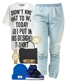 """""""Untitled #1077"""" by power-beauty ❤ liked on Polyvore featuring Moschino, Lazy Oaf, Michael Kors and H.I.P."""