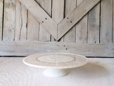 Vintage White Milk Glass Gold Cake Stand Anchor Hocking Fire King -Antique French Country Shabby Chic Farmhouse