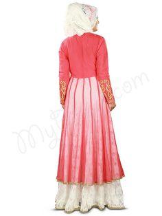 Elegant Golden Thread Embroidered Party Wear #Abaya |#MyBatua.com