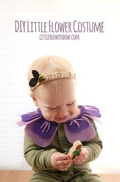 DIY Flower Costume and Bee Headband, so perfect for Halloween! | littleredwindow.com