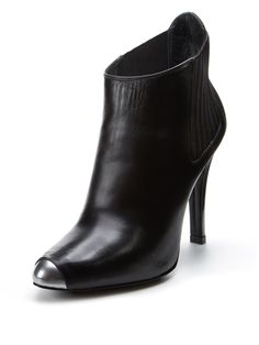 Metallic Leather Toe Bootie by Barbara Bui at Gilt