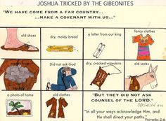 Joshua tricked by the Gibeonites