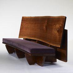 163: Mira Nakashima / custom double plank bench < Modern Design, 07 October 2007 < Auctions | Wright