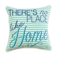 There really is no place like it our Home Stripe Cushion by Madras Link will never let you forget it