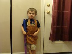The ultimate carpenter's apron made from wood grain fabric <3 With a place for your foam sword.