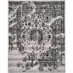 Safavieh, Adirondack Silver/Black 6 ft. x 9 ft. Area Rug, ADR101A-6 at The Home Depot - Mobile