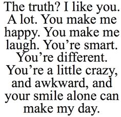 Describes him perfectly.. :)