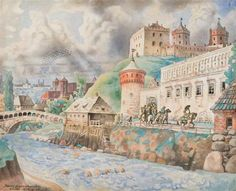 Very intresting J. Kamarauskas painting of Vilnius painted in 1894 Lithuanian architect, artist, engineer (1874-1946) .jpg (700×567)