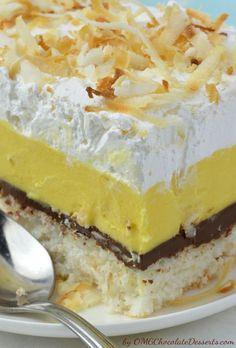 ...Dreamy Creamy Coconut Bars   OMG Chocolate Desserts