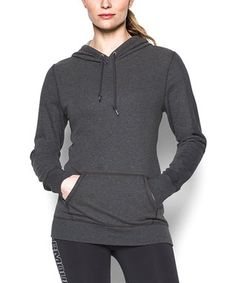 c1793e2a353bae Carbon Heather Favorite French Terry Popover Hoodie Under Armour Women
