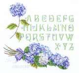 Thea Gouverneur Hydrangea Alphabet On Aida - Cross Stitch Kit. This cross stitch kit contains Aida cloth, pre-sorted DMC floss, John James needle, easy-to-follo Close Up Pictures, Flower Pictures, Pink And Purple Flowers, Red Roses, Punch Needle Kits, Hydrangea Bouquet, Bead Kits, Cross Stitch Rose, Needlepoint Kits