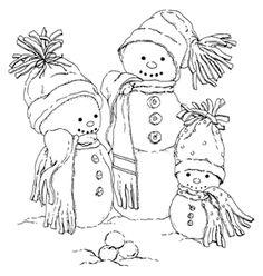 snowmen Digital Stamps - Google Search