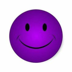 Happy purple smiley