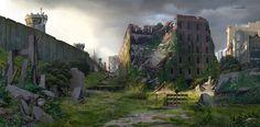 Behind the Wall Town Church   Video Games Artwork