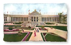 The U.S. Government Building.  It had been the custom of the Unites States Government to participate generously in all important Expositions. The Government building at the World's Fair of 1904 was the largest exhibit structure ever erected by Federal authority and every department of the government was represented with elaborate displays.