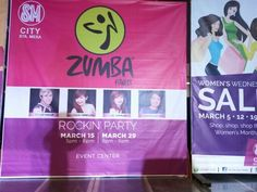 Zumba rockin party join us today. 5pm at the 4f of SM City Sta. Mesa